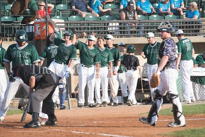 6/12/2017 - The Big Train dugout ready to greet James Outman after he hit a 1st inning homerun, ©2017 Jacqui South Photography