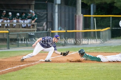 6/12/2017 - The front half of a double steal, James Outman (26) is safe sliding into 3rd-Riverdogs 3rd basement Joey Goldsmith (24), ©2017 Jacqui South Photography