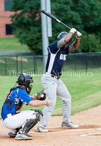 Darrin Baker (1) at bat. 06 22 2017  Rockville Express v D C Grays Baseball