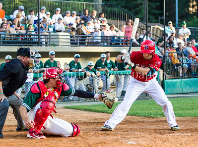 Bethesda BigTrain Justin Morris (13), Baltimore Redbirds Andy McGuire (51), 06 24 2017  Bethesda Big Train v Baltimore Redbirds Baseball