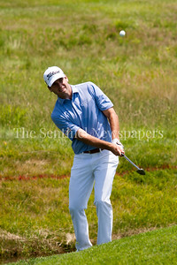Ben Martin coming out of rough at 14. 06 29 2017 Quicken Loans National Golf Tournament at TPC Potomac.  Day 3 Thursday