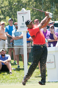 Jonathan Vegas on the first tee. 06 30 2017 Quicken Loans National Golf Tournament at TCP Potomac Day 4 Friday