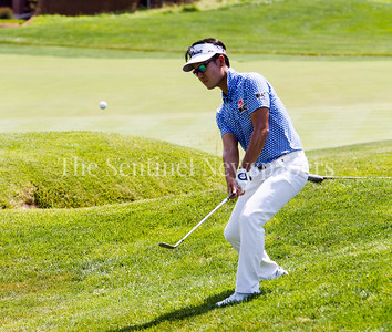 Kevin Na in the rough at 14. 06 29 2017 Quicken Loans National Golf Tournament at TPC Potomac. Day 3 Thursday