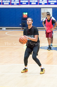 7/18/2017 - Michael Germaine at the foul line for Springbrook, Maryland Elite Summer Basketball, ©2017 Jacqui South Photography