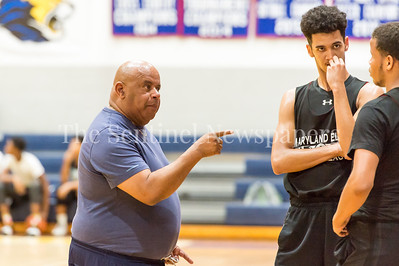 7/18/2017 - Springbrook head coach Darnell Myers, Maryland Elite Summer Basketball, ©2017 Jacqui South Photography