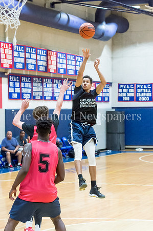 7/18/2017 - Matthew Balanc sinks a fade away jump shot for Springbrook, Maryland Elite Summer Basketball, ©2017 Jacqui South Photography