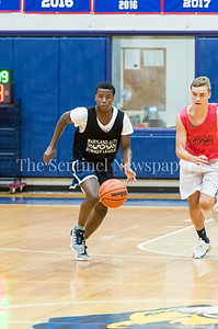 7/18/2017 - Delano Jessup brings the ball upcourt for Springbrook, Maryland Elite Summer Basketball, ©2017 Jacqui South Photography