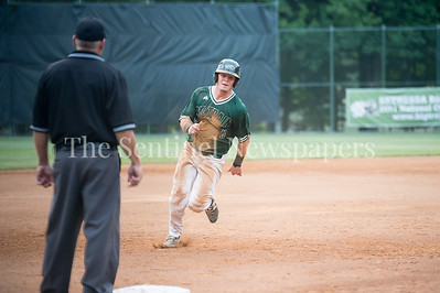 7/20/2017 - Tanner Allen rounds 3rd base on his way to scoring, Thunderbolts v Big Train, Photo Credit: Jacqui South