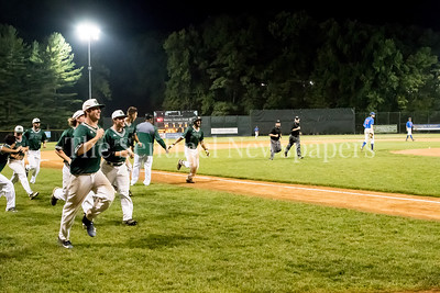 7/20/2017 - Vinny Esposito scoring the winning run on a walk-off home run as the Big Train defeat the Thunderbolts 7-6, Photo Credit: Jacqui South