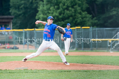 7/20/2017 - Thunderbolt pitcher Brant Blaylock, Thunderbolts v Big Train, Photo Credit: Jacqui South