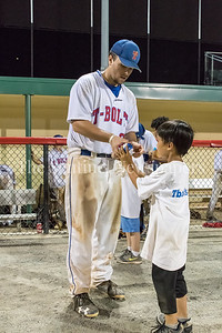 7/21/2017 -Thunderbolts infielder Cooper Williams autographs a ball for a fan, Photo Credit: Jacqui South