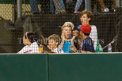 7/21/2017 - A pack of kids enjoy the Riverdogs v Thunderbolts double-header, Photo Credit: Jacqui South