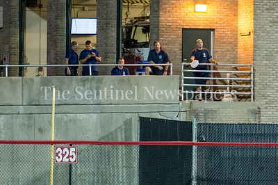 7/21/2017 - Some EMT personnel enjoy the Riverdogs v Thunderbolts game from Station 16 in Silver Spring , Photo Credit: Jacqui South