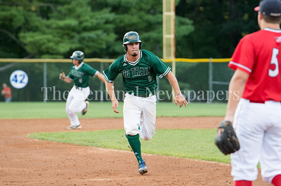 7/30/2017 - Big Train 3rd baseman on his way to 3rd, then scoring on a 4th inning double by Justin Morris, Photo Credit: Jacqui South