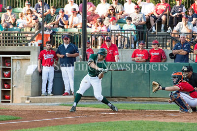 7/30/2017 - Big Train designated hitter Logan Driscoll at bat in the 3rd inning, Photo Credit: Jacqui South