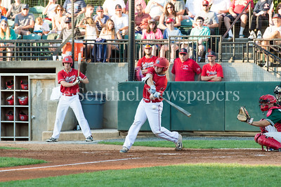 7/30/2017 - Red Birds catcher Ryan Sloniger at bat in the 3rd inning, Photo Credit: Jacqui South