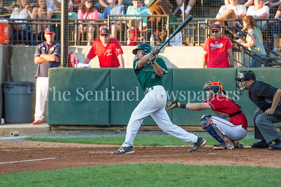 7/30/2017 - Big Train shortstop Garrett Kueber at bat in the 4th inning, Photo Credit: Jacqui South