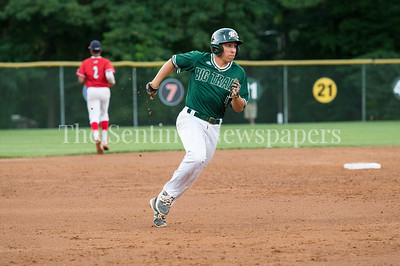 7/30/2017 - Big Train shortstop Garrett Kueber on his way to 3rd, then scoring on a 4th inning double by Justin Morris, Photo Credit: Jacqui South