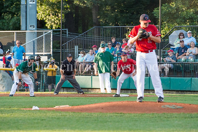 7/30/2017 - Red Birds 1st baseman Cole Zabowski and Big Train 2nd baseman Vinny Esposito, Photo Credit: Jacqui South