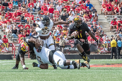 9/9/2017 - Quarterback Kasim Hill (11), Towson v University of Maryland Football, Photo Credit: Jacqui South