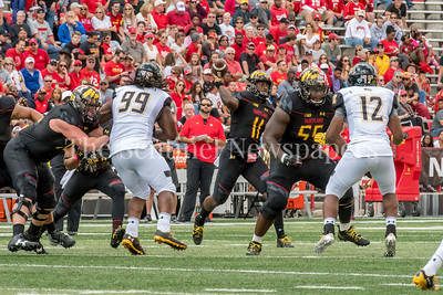 9/9/2017 - Maryland quarterback Kasim Hill (11), Towson v University of Maryland Football, Photo Credit: Jacqui South