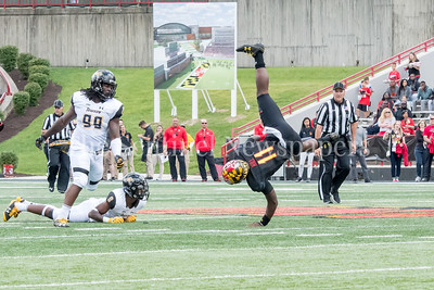 9/9/2017 - Kasim Hill (11) shows his athleticism, Towson v University of Maryland Football, Photo Credit: Jacqui South