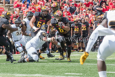 9/9/2017 - Ty Johnson (6), Towson v University of Maryland Football, Photo Credit: Jacqui South