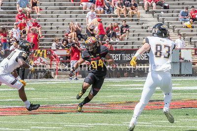 9/9/2017 - Jacquille Veii (84) (Avalon), Towson v University of Maryland Football, Photo Credit: Jacqui South
