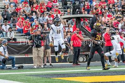 9/9/2017 - Jabari Allen (18) after scoring in the 2nd quarter, Towson v University of Maryland Football, Photo Credit: Jacqui South