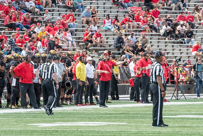 9/9/2017 - Maryland Head Coach DJ Durkin, Towson v University of Maryland Football, Photo Credit: Jacqui South