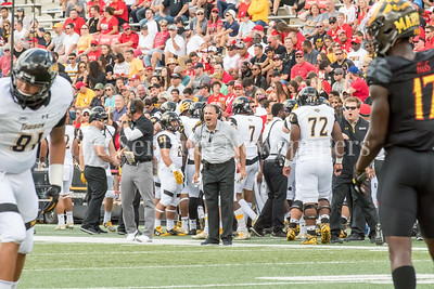 9/9/2017 - Towson Offensive Line Coach John Donaelli, Photo Credit: Jacqui South