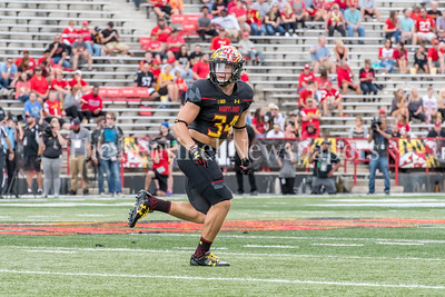 9/9/2017 - Jake Funk (34) (Damascus HS), Towson v University of Maryland Football, Photo Credit: Jacqui South