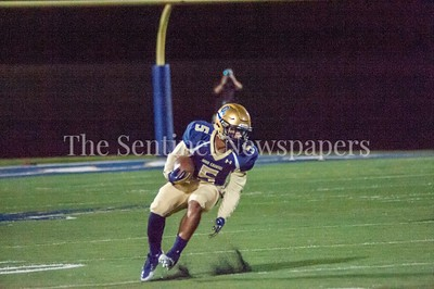 Our Lady of Good Council Falcons Tremayn Stott (5) on his way to the end zone. 09 28 2017 Northwest High School at Our Lady of Good Council High School Football
