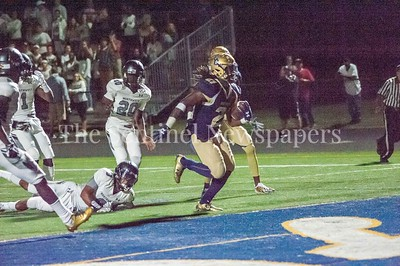 Our Lady of Good Council Falcons Ayinde Eley (2) scores...09 28 2017 Northwest High School at Our Lady of Good Council High School Football