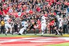 10/14/2017 - Touchdown by Maryland's DJ Moore (1) as he's pulled down by Northwestern defensive back JR Pace (4), Northwestern v Maryland Football, Photo Credit: Jacqui South