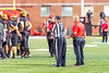 10/14/2017 - Maryland Head Coach DJ Durkin with the field judge after Kyle Queiro was not called for pass interference on the previous play, Northwestern v Maryland Football, Photo Credit: Jacqui South