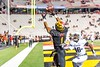 10/14/2017 - Late in the 4th quarter DJ Moore (1) grabs a catch in the corner of the end zone, but it was not ruled a touchdown, Northwestern v Maryland Football, Photo Credit: Jacqui South