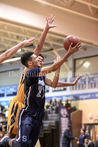Springbrook's Cam Rucker 's speed proved too much for the B-CC defense on this layup