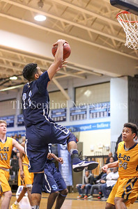 Springbrook's Cam Rucker's stylish dunk attempt came up just short
