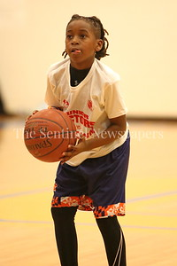George P. Smith/The Montgomery Sentinel    G-Town's Malik Simmons (#5) with 6 for 8 shooting from the charity stripe.