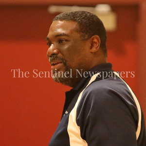 George P. Smith/The Montgomery Sentinel    Keith Adams, founder and President of the CKA SAVE Project looks on at the CKA 2017 Holiday Tournament Final played at Howard Community College Wednesday December 27, 2017.