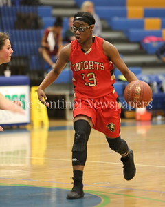 George P. Smith/The Montgomery Sentinel    Wheaton High School's Crystal Jones (#13) during the game played at Churchill on Tuesday, January 2, 2018.