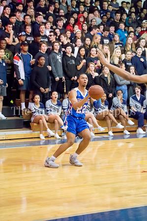 2/9/2018 - Sherwood senior guard/forward Donovan Lacey (22) shoots a 3-pointer, Sherwood v Magruder Boys Basketball, ©2018 Jacqui South Photography