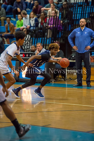 2/16/2018 - Springbrook sophomore guard Timitrius Whitney-Hawkins (14), Springbrook v Blake Boys Basketball, ©2018 Jacqui South Photography