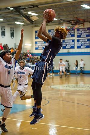 2/16/2018 - Springbrook sophomore guard Timitrius Whitney-Hawkins (14), Springbrook v Blake Boys Basketball, ©2018 Jacqui South Photography
