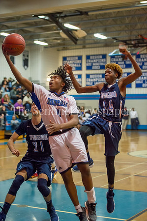 2/16/2018 - Phillip Ellis (4) with a layup for Blake HS, Springbrook v Blake Boys Basketball, ©2018 Jacqui South Photography