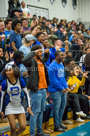 2/16/2018 - Students from Blake HS cheer on the Bengals, Springbrook v Blake Boys Basketball, ©2018 Jacqui South Photography