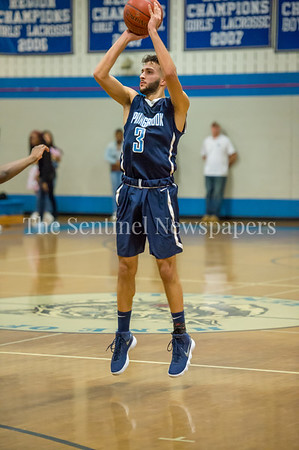 2/16/2018 - Springbrook senior guard Sam Rafidi (3), Springbrook v Blake Boys Basketball, ©2018 Jacqui South Photography