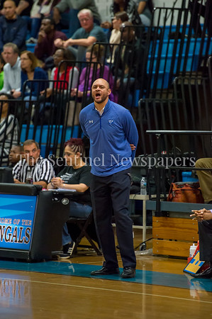 2/16/2018 - Blake head coach Dondrell Whitmore, Springbrook v Blake Boys Basketball, ©2018 Jacqui South Photography
