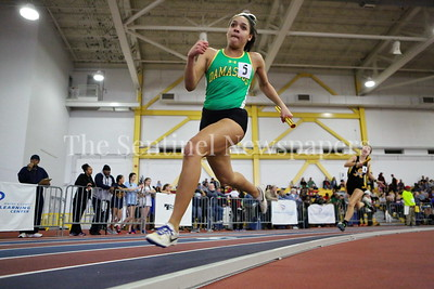 George P. Smith/The Montgomery Sentinel   ? (likely Melissa Kameka or Samantha Kameka)         at the State Indoor Track & Field Championship Meet held at the Prince George's Sports and Learning Center in Landover, MD on Monday February 19, 2018.